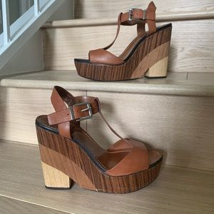 Wooden cute wedges! Vince camuto